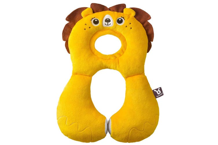 Benbat Total Support Headrest Head/Neck Rest Travel Baby 1-4y Pillow f/ Car Lion
