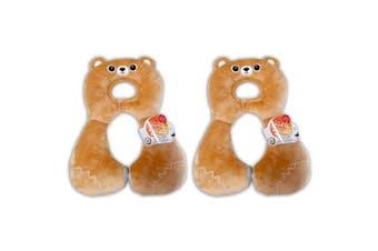 2x Benbat Total Support Headrest Head/Neck Rest Travel Baby 1-4y Car Pillow Bear