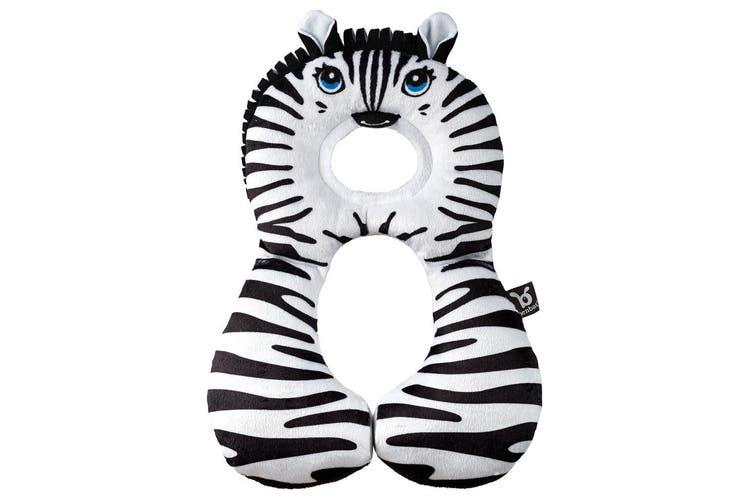 2PK Benbat Total Support Headrest Head/Neck Travel Baby Car Pillow Zebra BLK/WHT