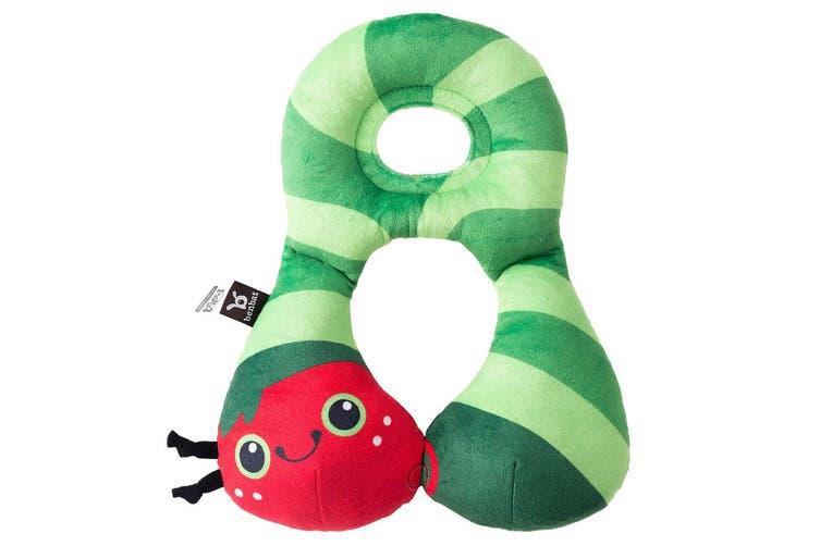 Benbat Total Support Headrest Head/Neck Travel Baby 1-4y Pillow Car Caterpillar