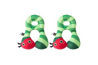 2x Benbat Total Support Headrest Head/Neck Rest Baby 1-4y Pillow Car Caterpillar