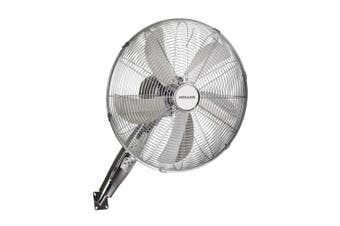 Heller 40cm Chrome Wall Mounted Fan 3 Speed Oscillating Tilt/Hanging w/ Remote