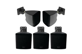 Pure Acoustics 5.0ch Wall Mounted Satellite Speaker f/ Home Theatre/Music Black