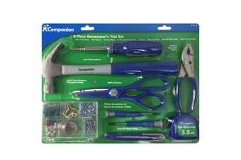 9pc Tool Set DIY Hammer/Pliers/Screwdriver/Box Cutter/Scissors/Tape Measure