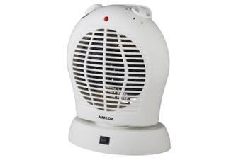 Heller 2000W Electric Portable Upright Oscillating Floor/Desk Fan Heater/Heating