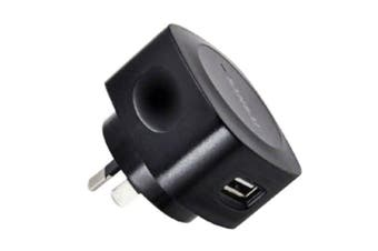 Sansai AC USB Port Adapter Wall Charger 5V 1A for Smartphones Apple Samsung BLK