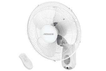 Heller HWAL40R 40cm White 50W Wall Mountable Fan/Air Cooler/Remote Control/Timer