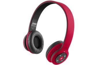 Jam Transit Wireless Bluetooth Headband Stereo Headphones Headset Mic Red