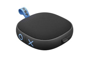 Jam Tight Wireless Rechargeable Portable AUX Bluetooth Speaker w/ Cable Black