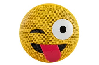 Jamoji Bluetooth Portable/Wireless Speaker Winking Tongue Out Emoji for iPhone