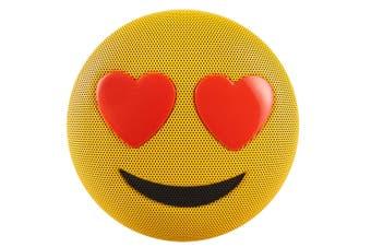 Jamoji Bluetooth Portable/Wireless Speaker Love Struck Heart Eyes Emoji