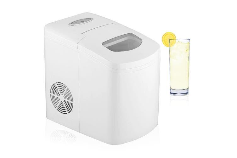 Ice Cube Maker/Electric Portable Machine/Auto Automatic 150w/10kg in 24h White