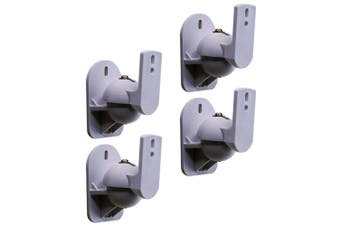 2 Pairs Cinema IQ Universal Adjustable 8kg Pan/Tilt Speaker Brackets/Mount SL