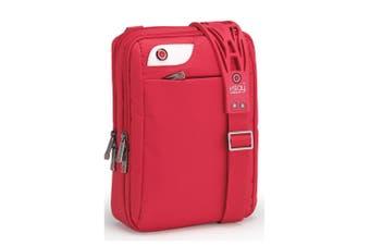 "I-Stay 12"" Tablet/iPad Nylon Water Resistant Non Slip Shoulder/Cross Body Bag RD"