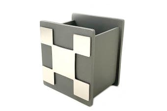 Rectangular 8cm Pen Desk Organiser/Home Office Stationary Cup Storage/Holder CHR