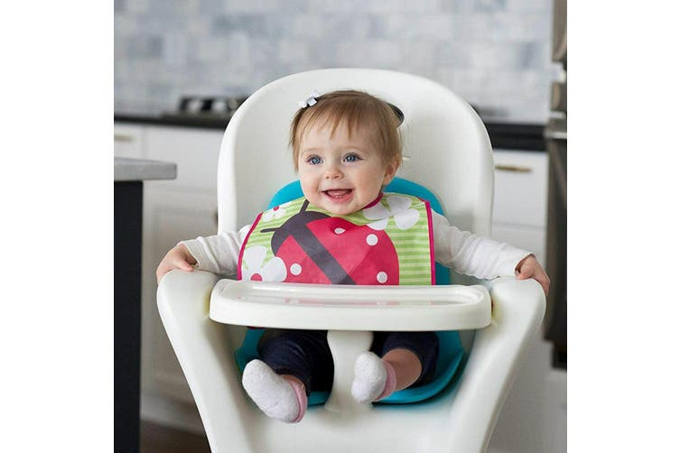 3pc JJ Cole Bibs Baby/Toddler Feeding Saliva/Drool Burp Towel Pink Flutter Set