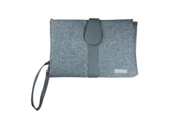 JJ Cole Baby Nappy/Diaper Changing Clutch/Mat/Foldable Handbag/Wallet/Bag Grey