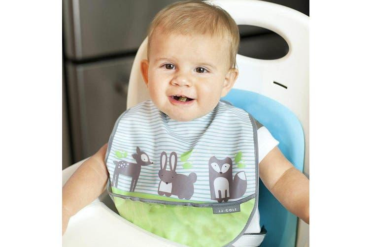 6pc JJ Cole Bibs Baby/Toddler Feeding Saliva/Drool Burp Towel Forest Fauna Set