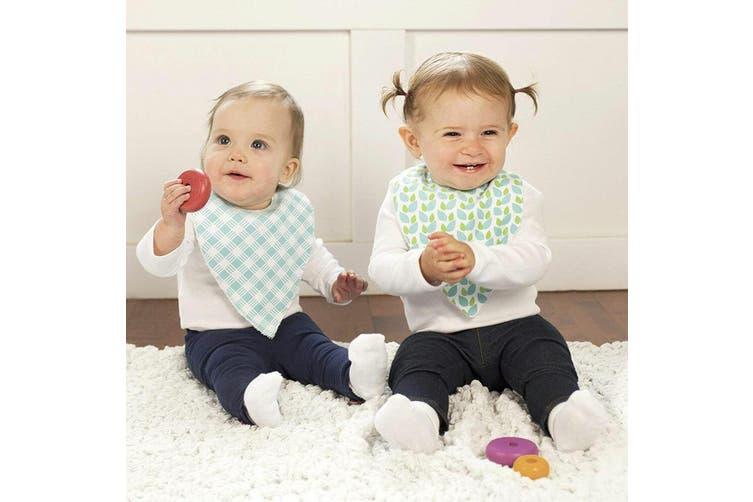 2pc JJ Cole Bandana Bibs Baby/Toddler Cotton Feeding Saliva Towel Forest/Fauna