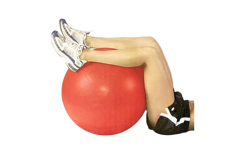 Exercise Fitness 65cm Fit Ball/Inflatable/Pilates/Yoga/Crossfit/Gym w/ Pump Red