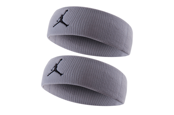 2x Jordan Jumpman Headband Sports Gym/Running Fitness Yoga Sweat/Head Band Grey