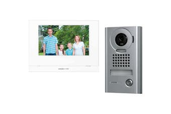 "Aiphone 7"" Wireless Metal Video Intercom Security System Kit w/JO1MDW/JODV & P/S"