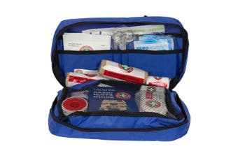 Blue Emergency First Aid Kit Treatment Car/Travel Compact Medical Survival