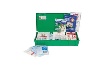 35pc Emergency Medical First Aid Kit Injury Treatment Compact Case Work/Home