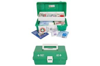 Emergency Medical First Aid Kit Injury Treatment Locking Portable Case Work/Home