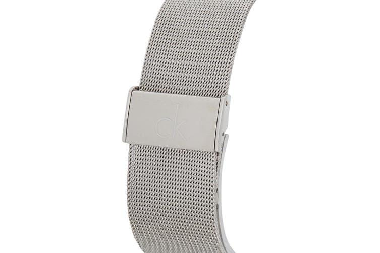 Calvin Klein Women 29mm Impulsive Mesh Stainless Steel Wrist Watch Silver/Black