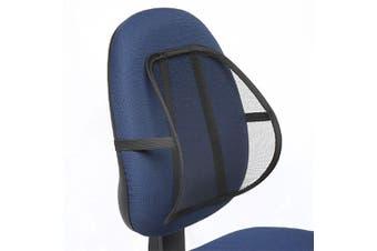 Kensington Mesh Back/Spine/Lumbar/Rest/Support for Office Chair/Car Black