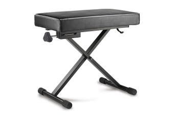 Hercules EZ Height Adjustable X Type Music Keyboard/Piano Bench Seat Stool Black