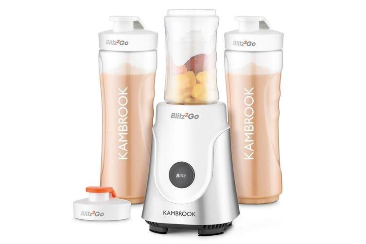 Kambrook KBL63 Blitz2Go Bottle Blender Protein Shake Mixer Smoothies Drink Maker