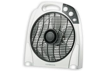 Kambrook 30cm Arctic Floor Box Standing Plastic Fan/Air Cooling/Cooler White
