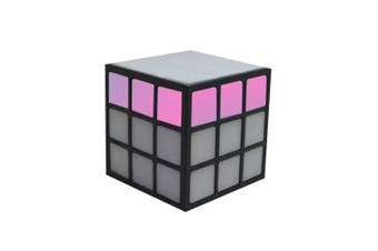 LED Cube Bluetooth/Wireless Portable Speaker w/FM/AUX/Rechargeable Battery Black