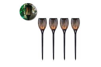4PK 79cm LED Solar Waterproof Outdoor/Garden Pathway Decor Warm Light/Torch