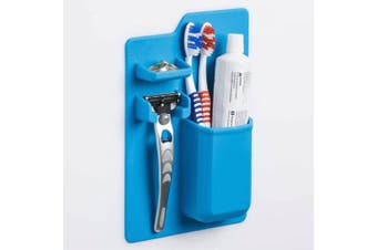Bathroom Storage Organizer Silicon Self Adhesive Toothbrush/Paste/Razor Holder