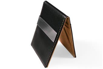 Ultra Slim Men Women PU Leather Wallet Money/Cash Clip Card Holder Coffee BR/BLK