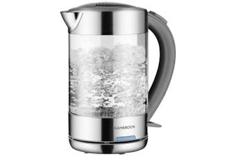 Kambrook 2200W Strength/Clarity 1.5L Glass Electric/Cordless Kettle KKE760CLR