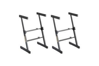 2x Hercules Adjustable Autolock Z Type Music Piano/Keyboard Stand/Holder/Rack BK