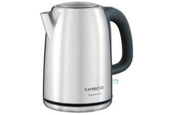 Kambrook 2200W Rapid Boil 1.7L Stainless Steel Cordless/Electric Kettle KSK220