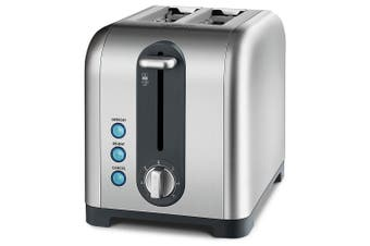 Kambrook 950W Profile Extra Lift Stainless Steel Cancel/Reheat 2 Slice Toaster