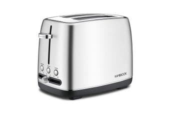 Kambrook 2 Slice 900W Stainless Steel Bread Cancel/Lift/Reheat Toaster Silver