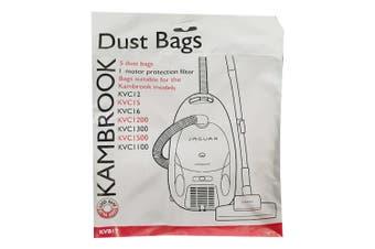 5pc Kambrook Jaguar Vacuum Cleaner Dust Bags for KVC12/15/16/1200/1300/1500/1100