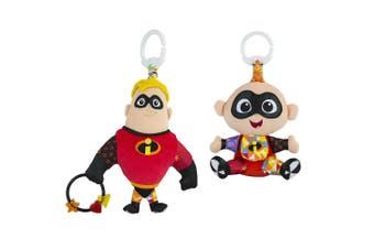Lamaze Clip & Go Mr Incredible & Jack-Jack Baby/Infant/Newborn Plush Soft Toy