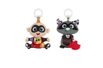 Lamaze Clip & Go Incredible Raccon/Jack-Jack Baby/Infant/Newborn Plush Soft Toy