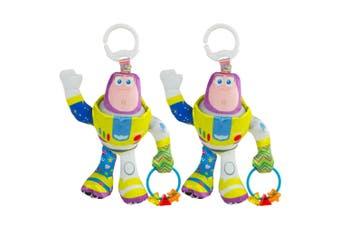 2x Lamaze 23cm Toy Story Clip & Go Baby/Infant Activity Toy Teether 0m+ Buzz