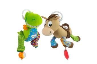 2PK Lamaze Toy Story Clip & Go Baby/Infant Activity Teether Toy 0m+ Bullseye/Rex