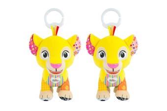 2x Lamaze 18cm Lion King Clip & Go Baby/Infant Activity Teether Toy 0m+ Nala