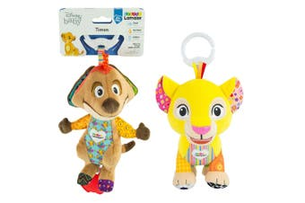 2PK Lamaze Lion King Clip & Go Baby/Infant Activity Teether Toy 0m+ Nala & Timon